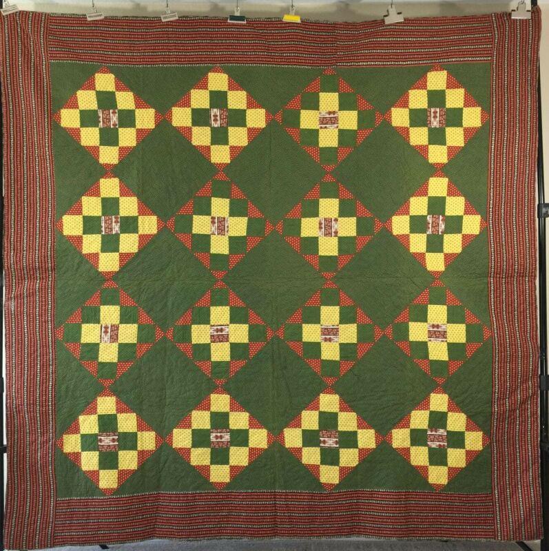 Album Patch/Chimney Sweep Antique Quilt .C1870-1880, PA
