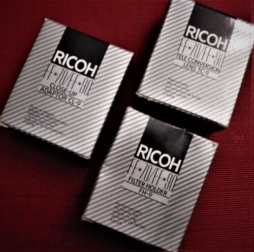 Lens set and filter adaptor for RICOH FF-90 / FF-70.35mm camera. NEW !