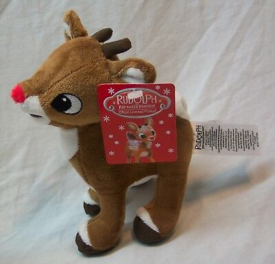 "RUDOLPH THE RED-NOSED REINDEER 6"" Plush STUFFED ANIMAL NEW Island of Misfit Toys"