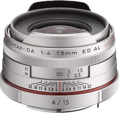 PENTAX Super-Wide-Angle Single Focus Lens HD DA 15mm F4 ED AL Limited Silver