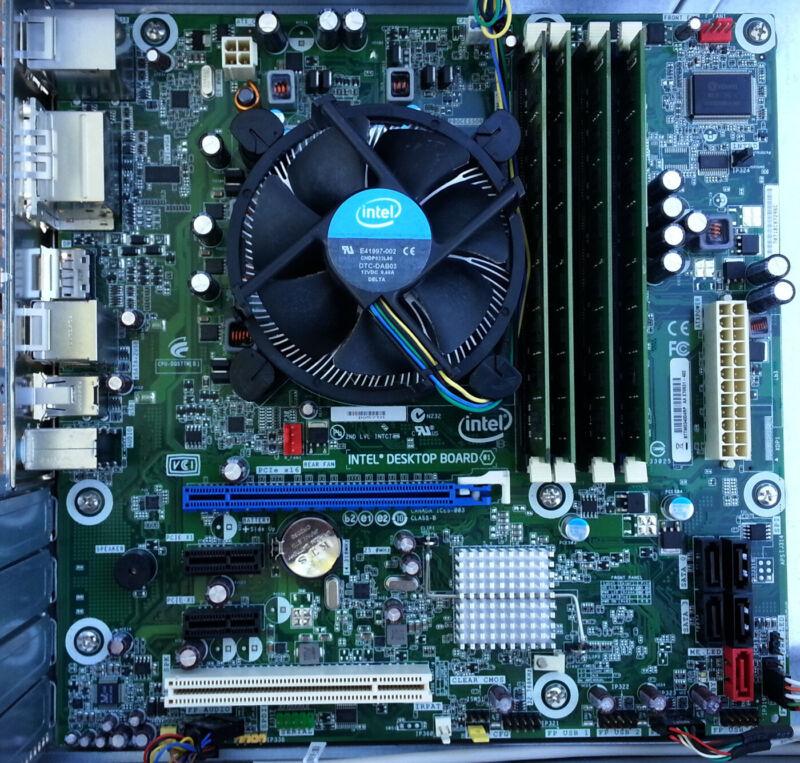 DQ57TM Intel Motherboard Combo w/Extras i5-650 3.20GHz 8GB RAM Fan Latest BIOS