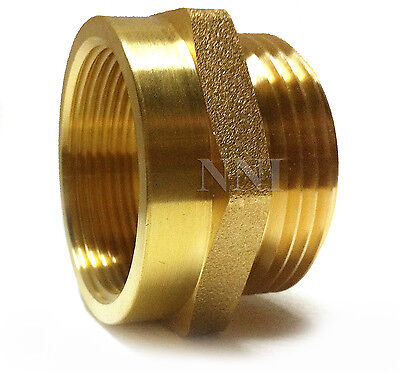 Nni Fire Hosehydrant Hex Adapter 1-12 Female Npt X 1-12 Male Nst - Nh