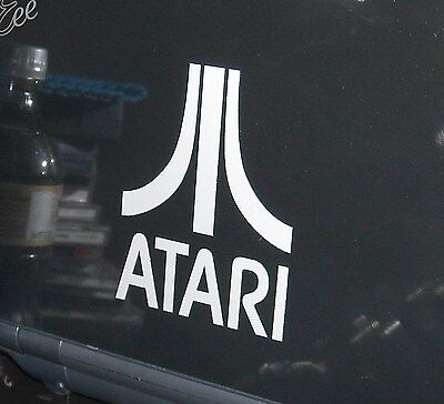 - ATARI Logo Vinyl Decal Sticker WHITE,SILVER, BLACK, RED 1
