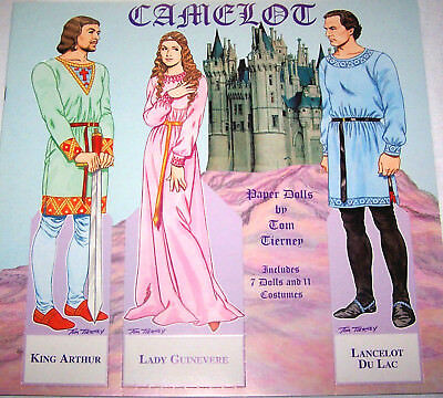CAMELOT Medieval Paper Doll Book MINT Condition Case-Fresh! B. Shackman Co.
