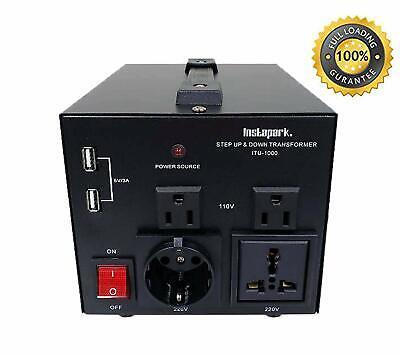 1000watt Voltage Converter Transformer Step Updown Ac 110v 220v Fully Load Itu