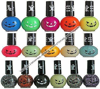 HALLOWEEN Nail Polish GLOW IN THE DARK+REGULAR+GLITTER Color/Enamel *YOU - Halloween Nail Polish Colors