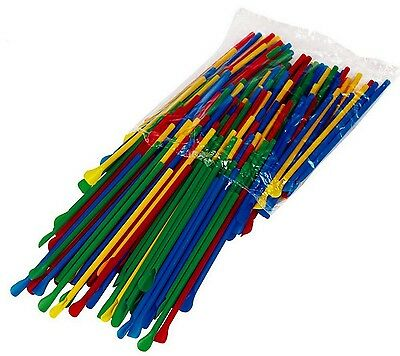 200 Spoon Straws Multi-colored 8 Inch Great For Shaved Ice Snow Cone Slush Drink