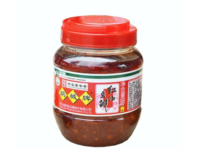 Sichuan Pixian Boad Bean Paste with Red Chili Oil 1000 g / Hong You Do /鹃城牌郫县豆瓣酱