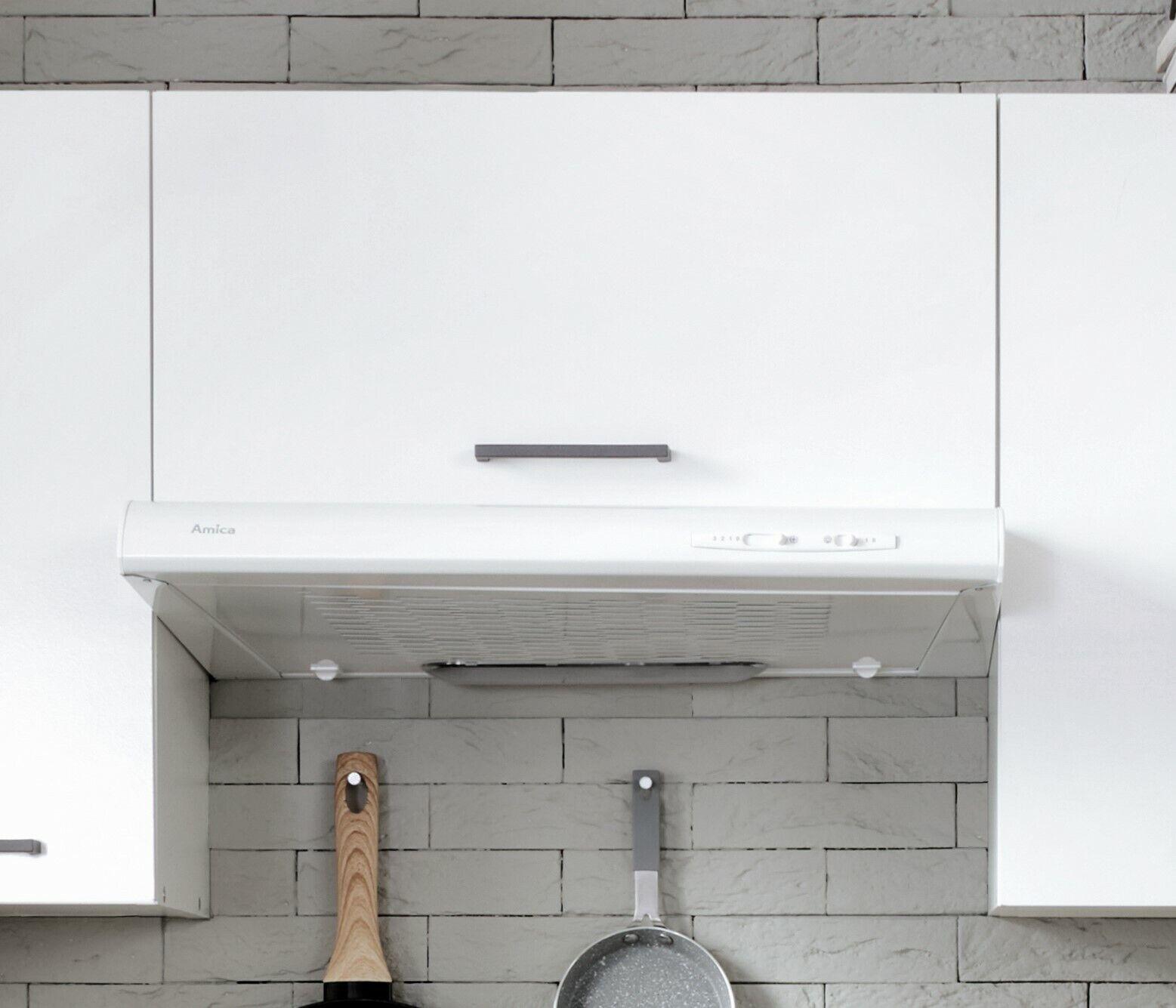 Kitchen Unit Wall Cooker Hood Cabinet 60cm 600 Cupboard White Low Gloss Junona Ebay