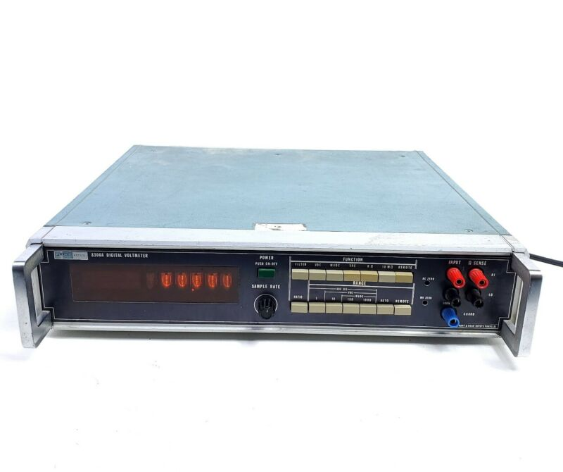 For Repair Vintage Fluke 8300A Digital Voltmeter Nixie Tube Powers On Rare