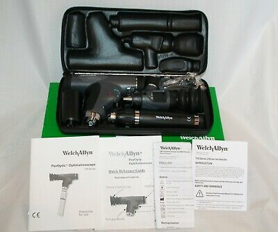 Welch Allyn 97800-ms Lithium Ion Panoptic Macroview Diagnostic Set With Otoscope
