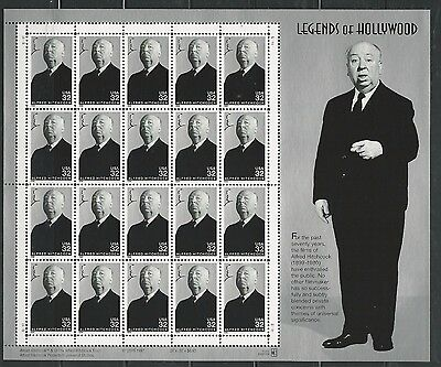 1998 3226 ALFRED HITCHCOCK LEGENDS OF HOLLYWOOD SHEET