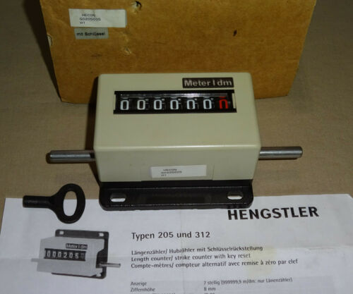 Hengstler G0205005 Mechanical Counter 7 Digit HECON NEW