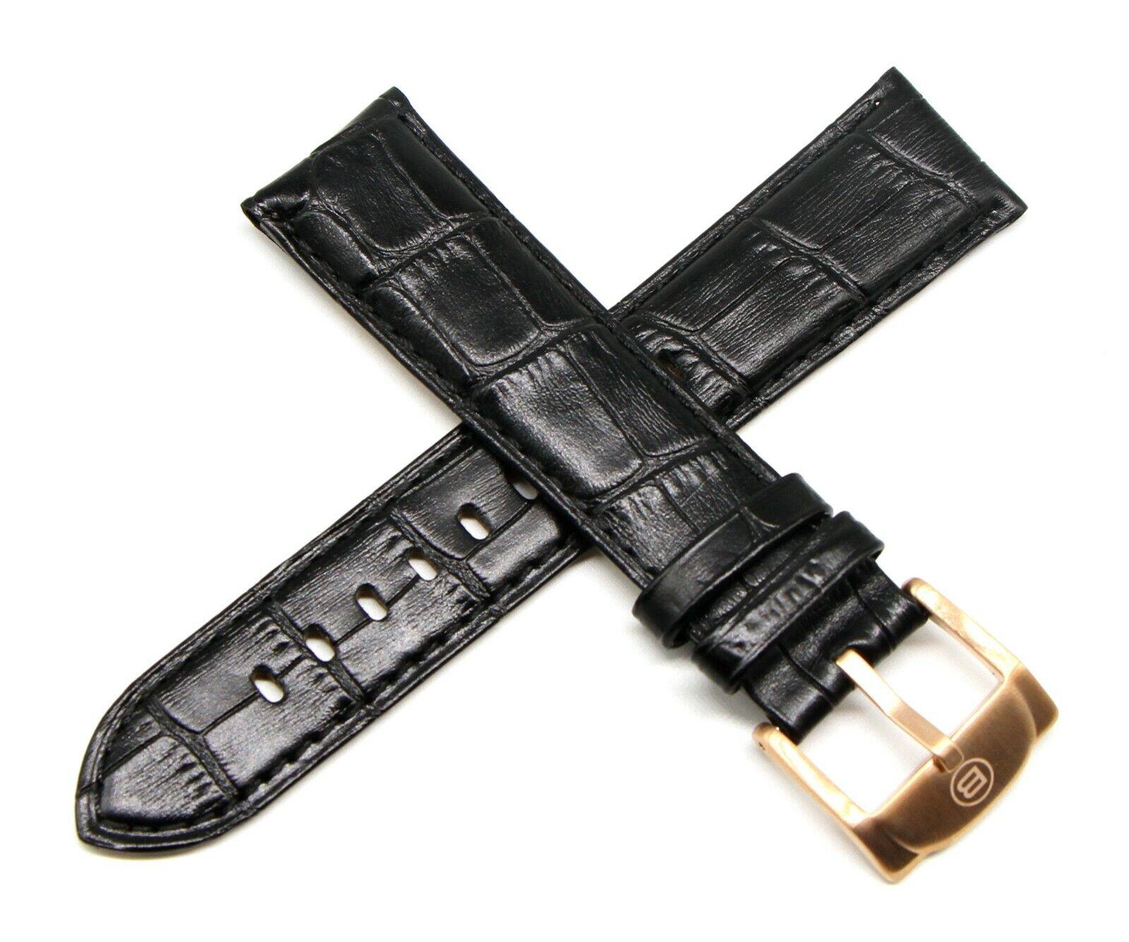 Ben & Sons Armband Leder 22 MM Alligator Optik Airstream