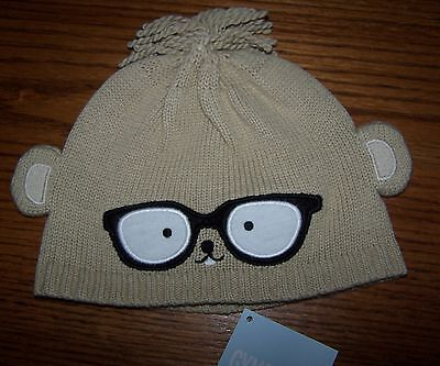 Gymboree Smart Little Guy Tan Beaver Pull On Hat 3-6 Mo Free Us Shipping