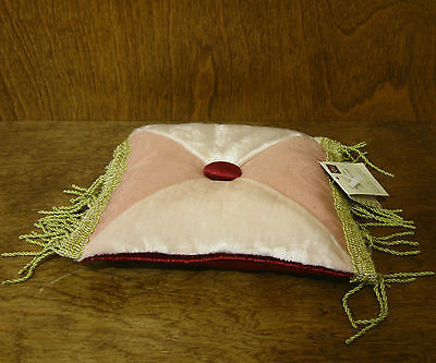 Russ Berrie 17090 Mini Decorative Pink Pillow, 6x 6, From Retail Store