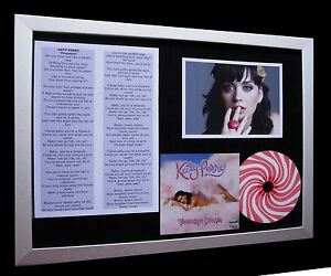 KATY PERRY Firework LTD Numbered QUALITY CD FRAMED DISPLAY+EXPRESS GLOBAL SHIP!!