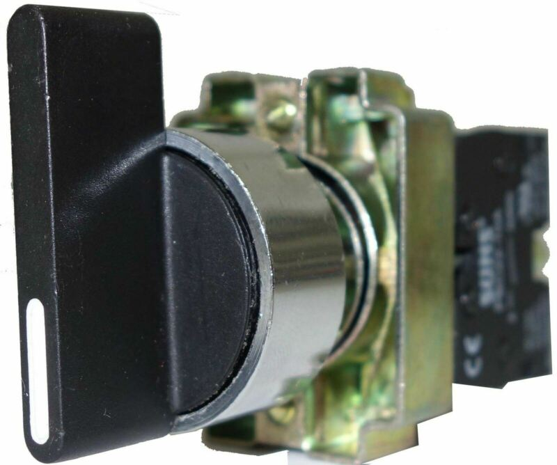 SUNS PBM22-SL2M-B-P5 22mm Ext Selector Switch Metal 2-Position Maintained 1NO