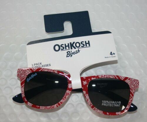 New OshKosh Girls 4 year + Sunglasses 100% UVA-UVB Classic Bandana Red