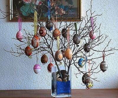 Hang eggs on branches to create an easter tree