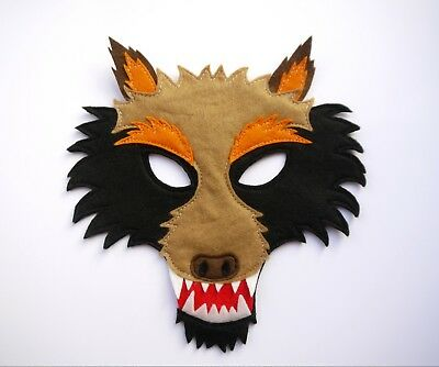 Wolf Mask Werewolf Costume Kids Adults were wolf boys girls felt Ware animal dog - Ware Wolf Costume