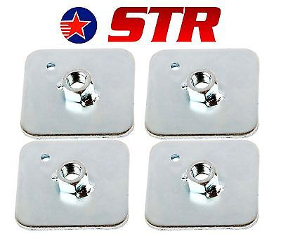 Racing Harness/Seat Belt Mounting Back Plate Backing, Eyelet Plates  (x4 Pieces) for sale  Shipping to Ireland