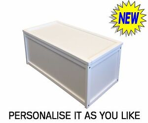 NEW WHITE WOODEN TOY BOX STORAGE UNIT CHILDRENS KIDS CHEST BOXES BENCH STRONG