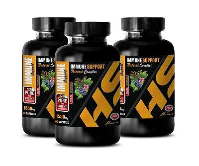 antioxidant formula capsules - IMMUNE SUPPORT - anti inflammatory herbs 3 BOTTLE