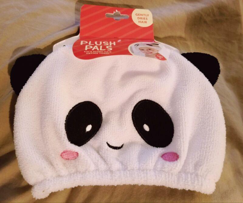 Plush Pals Hair Drying Towel - Panda - Kids Ages 2+ Soft & Gentle
