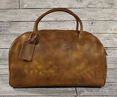Ralph Lauren RRL Distressed Leather Duffle Bag New $1200
