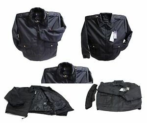 LAWPRO BY QUARTERMASTER DELUXE DUTY COAT POLICE JACKET w/ THINSULATE NAVY 6X