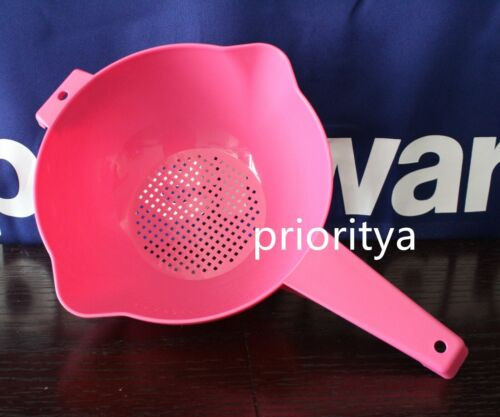 Tupperware 2 Qt Classic Colander Strainer Pour Spouts Pink New in Package