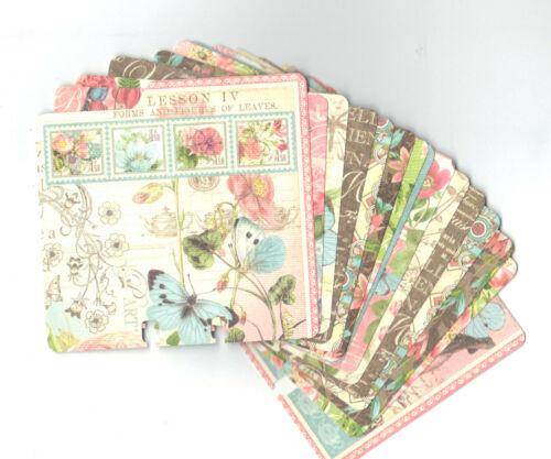 Graphic45 BOTANICAL TEA (15) MEMORYDEX /ROLODEX CARDS Double-Sided HANDMADE