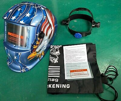 New Solar Auto Darkening Weldinggrinding Helmet1 Bag1 Front Cover