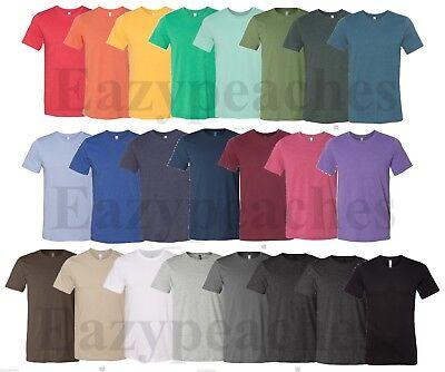 Bella Tee Shirts (Canvas, Men's Size S-3X, Bella Short Sleeve Heather T-Shirts, 3001, Unisex Tees )