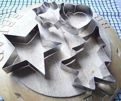 Large Tala Christmas Cookie Cutter Set Star Holly Tree Heart Icing Sugarcraft ()