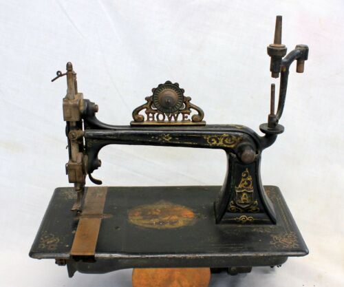 antique HOWE Treadle Sewing Machine ~ Scarce 1863 CIVIL WAR Era Model ~ EARLY