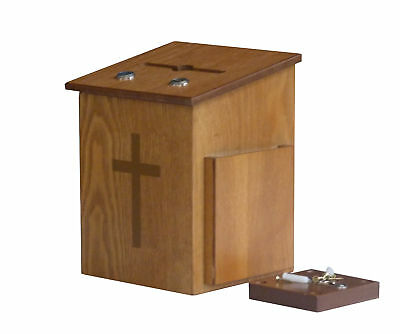 Dual Lock Comment Collection Suggestion Box Donation Charity Prayer Tithing Box