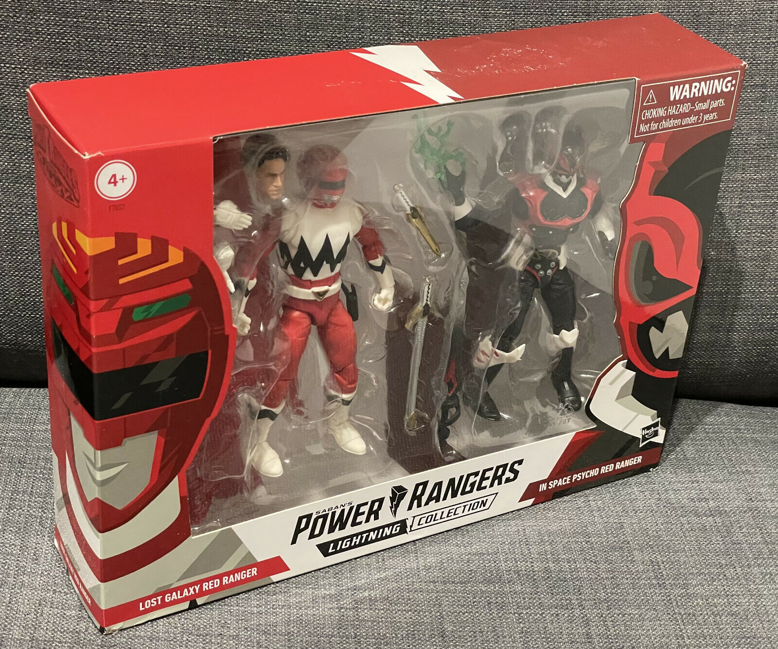 Power Rangers Lost Galaxy Red Ranger vs In Space Psycho Red Lightning Collection