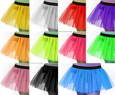 Plus Adult Size Women Tutu Tulle Skirt Petticoat Dance Neon Uv Women Halloween  ()
