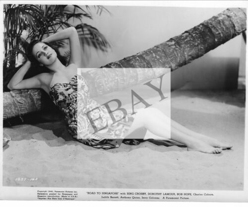"""ORIGINAL PUBLICITY PHOTO FOR DOROTHY LAMOUR IN """"ROAD TO SINGAPORE"""""""