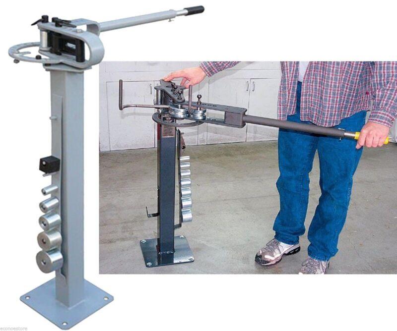 """Manual Floor Metal Bender Pipe Tube Rod Bending Metal Fabrication w/7 Dies 1""""~3"""""""