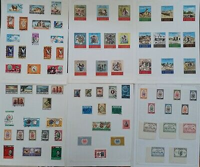 RARE 1940s- Jordan large lot of Postage stamps Mint & Used on Pages