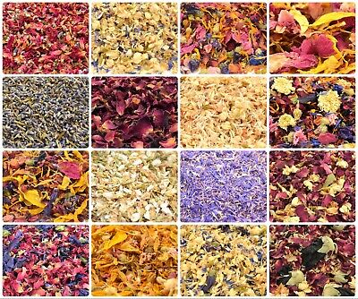 Edible Dried Flowers & Petals 61+ Types! Tea Cooking Gin Tonic Coctail Garnishes