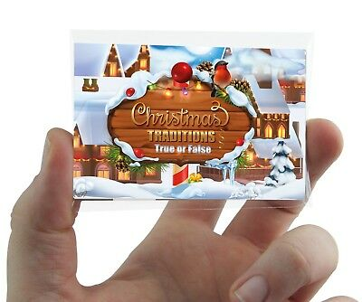 Christmas Traditions Quiz Card Game  Xmas Party Family Work Fun Secret - Christmas Party Game