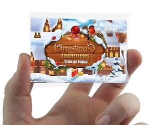 CHRISTMAS TRADITIONS QUIZ CARD GAME  Xmas Party Family Work Fun Secret Santa