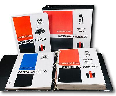 International Farmall 1206 Diesel Tractor Service Parts Operators Manual Shop