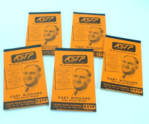 Vintage KSTP MINNEAPOLIS ST. PAUL Notepads GARY WIEGAND Farmer