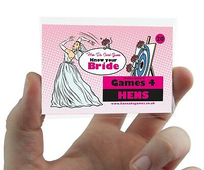 Ice Breaker Cards (Know The Bride Hen Party Accessory Game Cards Quiz Hen Do Activity Ice)