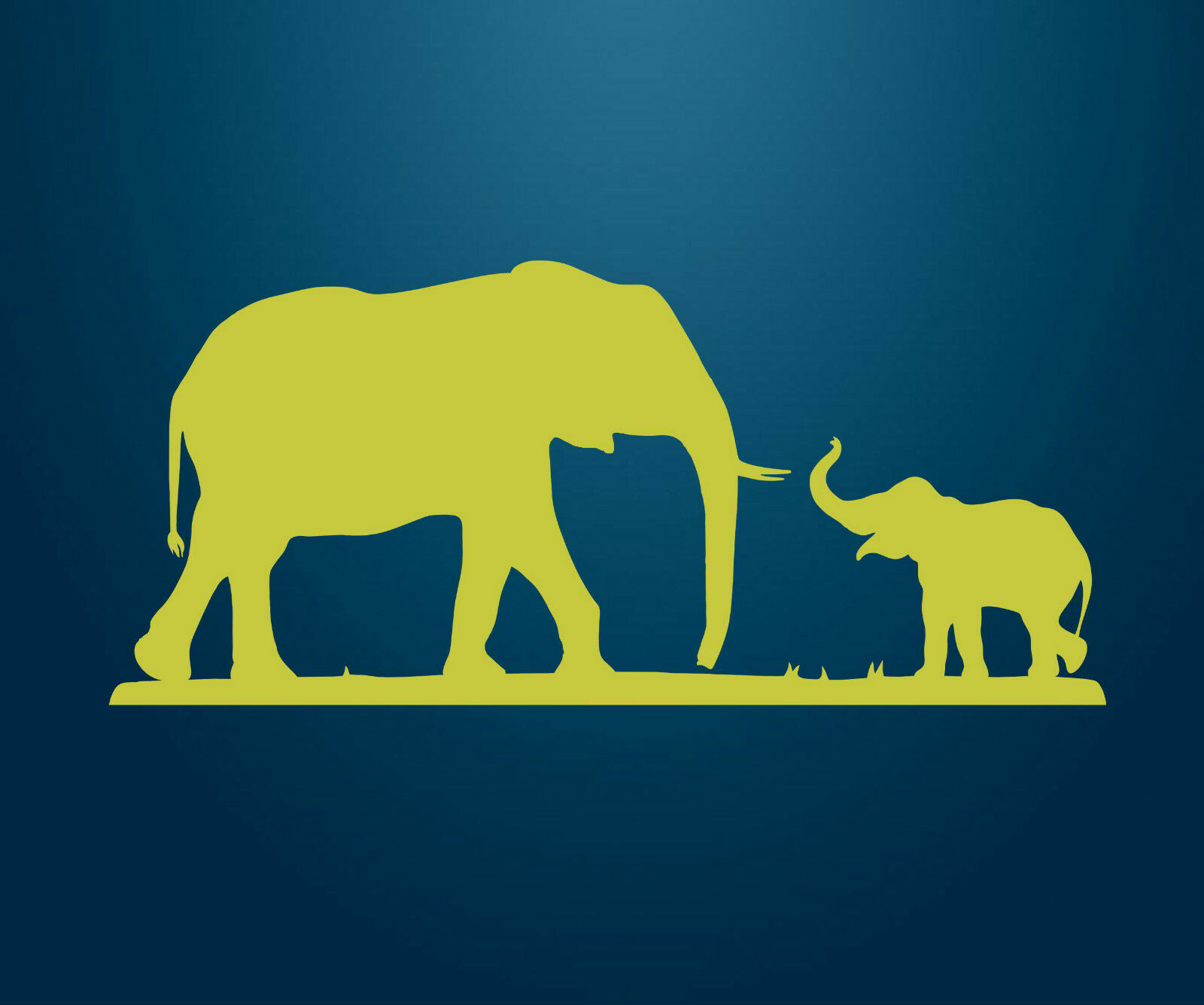 Cute Elephant with Baby Wall Art, Sticker Vinyl Decal Child\'s ...